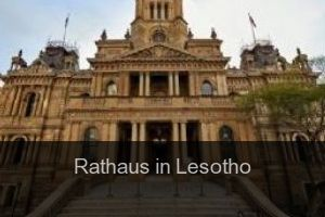 Rathaus in Lesotho